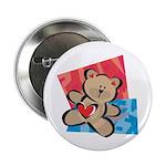 Love Bear with Heart Button