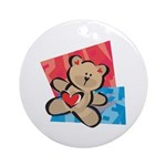 Love Bear with Heart Ornament (Round)