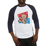 Love Bear with Heart Baseball Jersey