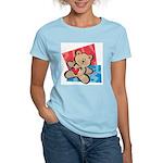 Love Bear with Heart Women's Pink T-Shirt