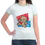Love Bear with Heart Jr. Ringer T-Shirt
