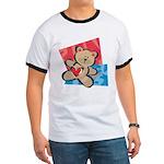 Love Bear with Heart Ringer T