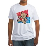 Love Bear with Heart Fitted T-Shirt