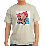 Love Bear with Heart Ash Grey T-Shirt