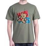 Love Bear with Heart Dark T-Shirt