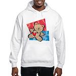 Love Bear with Heart Hooded Sweatshirt