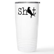 Shit Bird Logo Black Travel Mug