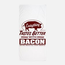 Everythings Better with Bacon Beach Towel