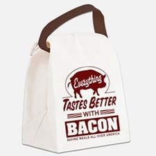 Everythings Better with Bacon Canvas Lunch Bag