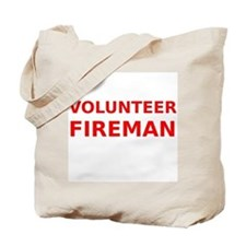 Volunteer Fireman Tote Bag