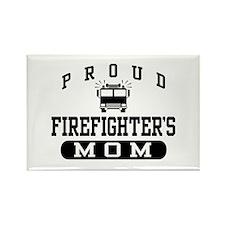 Proud Firefighter's Mom Rectangle Magnet