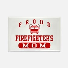 Proud Firefighter's Mom Rectangle Magnet