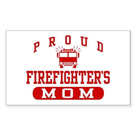 Proud Firefighter's Mom Rectangle Sticker