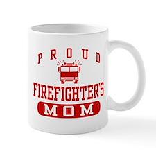 Proud Firefighter's Mom Small Mug