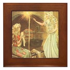 Vintage Cinderella Fairy Tale Framed Tile
