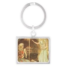 Vintage Cinderella Fairy Tale Landscape Keychain