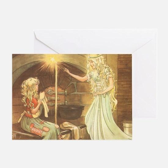 Vintage Cinderella Fairy Tale Greeting Card
