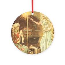 Vintage Cinderella Fairy Tale Round Ornament