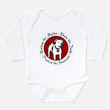 Unique Pit bull Long Sleeve Infant Bodysuit
