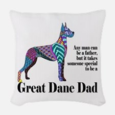 Great Dane Dad Woven Throw Pillow