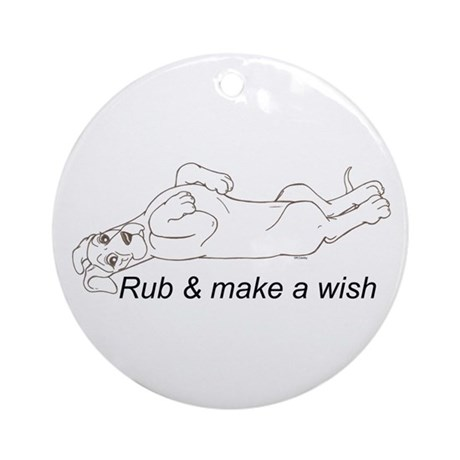 N Pup Make A Wish Ornament (Round)