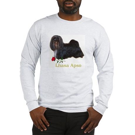 Lhasa Apso Heart Love Valentine Long Sleeve T-Shir
