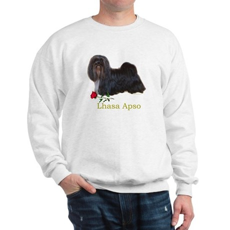 Lhasa Apso Heart Love Valentine Sweatshirt