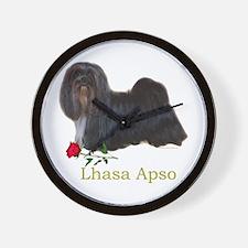 Lhasa Apso Heart Love Valentine Wall Clock