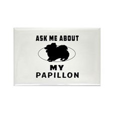 Ask Me About My Papillon Rectangle Magnet (10 pack