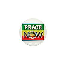 Rasta Peace Now Mini Button
