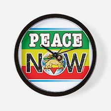 Rasta Peace Now Wall Clock