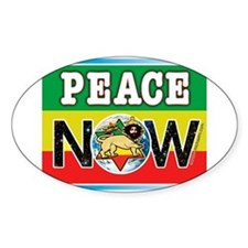 Rasta Peace Now Oval Decal