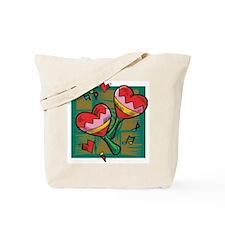 Love Heart Maracas Tote Bag