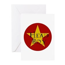 Head Boy - Star design in Red and Gold Greeting Ca