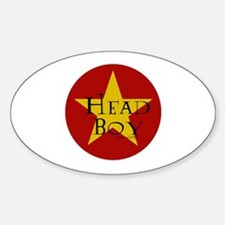 Head Boy - Star design in Red and Gold Decal