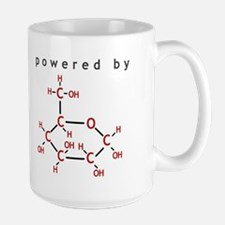 Powered by Glucose Large Mug