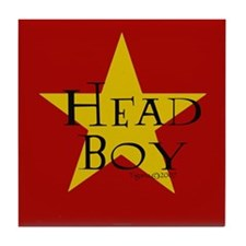 Head Boy - Star design in Red and Gold Tile Coaste