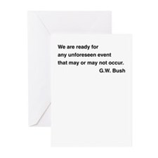 Cute Bushism Greeting Cards (Pk of 10)