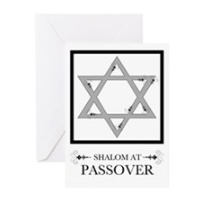 shalom at passover flourish Greeting Cards