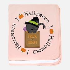 I Love Halloween baby blanket