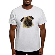 Cute Watercolor Pug Dog Pet T-Shirt