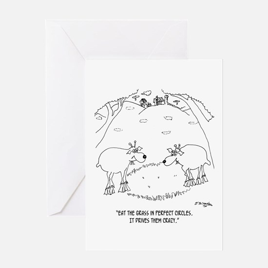 Crop Circles Explained Greeting Card