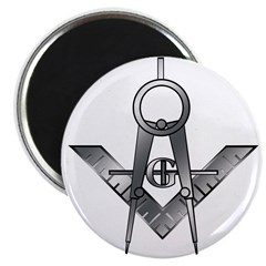 Covering The Square Master Mason Magnet