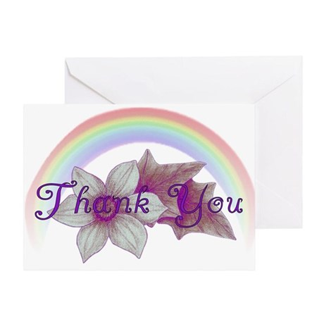 Rainbow Marriage Thank You Greeting Cards