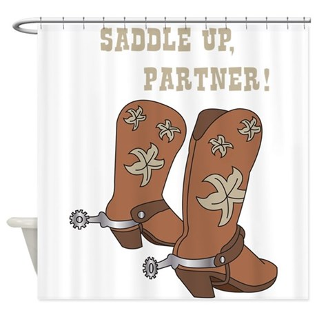 Saddle Up Partner Shower Curtain By Hopscotch1