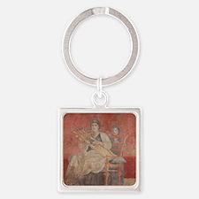 Funny Pompeii Square Keychain