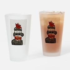 Sad Sock Monkey Drinking Glass