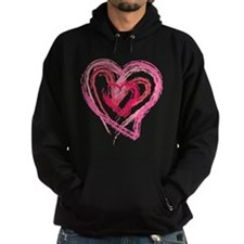 Four Love hearts in shades of pink Hoodie