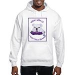 English Bulldog Puppy Hooded Sweatshirt