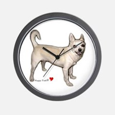 Cute Heart Chihuahua Wall Clock